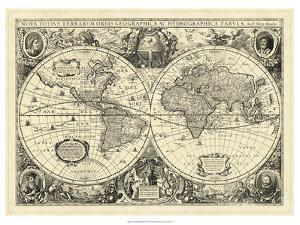 Antique maps posters and prints at art vintage world map art print gumiabroncs Images