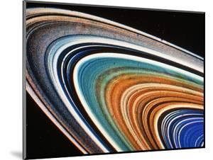 Voyager 2 Photograph of Saturn's Rings