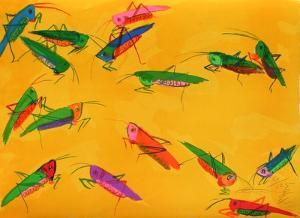 Grasshoppers by Walasse Ting