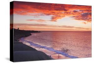 Australia, Fleurieu Peninsula, Port Willunga, Sunset by Walter Bibikow
