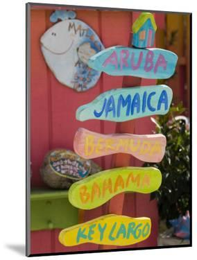 Colorful Directions Sign, Pine Island, Florida, USA by Walter Bibikow