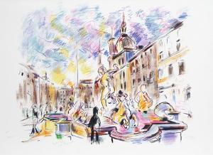 Piazza Navona, Rome by Wayne Ensrud