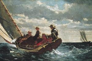 Breezing Up (A Fair Wind) by Winslow Homer