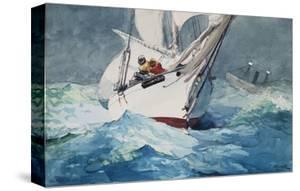 Reefing Sails Around Diamond Shoals, Cape Hatteras by Winslow Homer