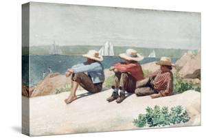 Watching Ships, Gloucester, 1875 by Winslow Homer
