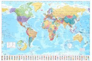 World maps posters and prints at art world map poster gumiabroncs Choice Image