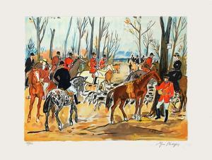 La chasse by Yves Brayer