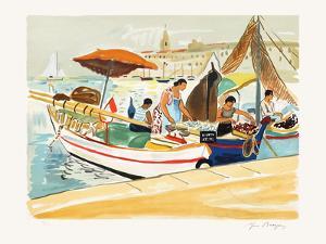 Marseille : Les marchandes du Vieux-Port by Yves Brayer